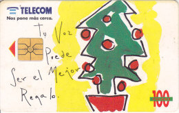 Argentina, ARG-TLC-052A,  Tu Voz Puede Ser..Christmas Tree, 2 Scans. - Argentina