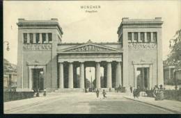 München Propyläen Personen Gelaufen 26.11.1908 Nach Marburg - Muenchen