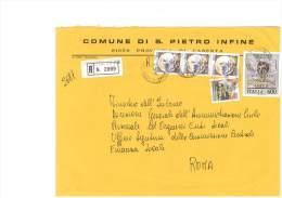SAN PIETRO IN FINE - 81050 - PROV. CASERTA - R - 18X24 - TEMA TOPIC COMUNI D´ITALIA - STORIA POSTALE - Affrancature Meccaniche Rosse (EMA)