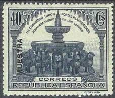 ESPAÑA 1931 - Edifil #609M (Muestra) - MNH ** - 1889-1931 Kingdom: Alphonse XIII