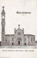 [DC8077] MILANO - RICORDO - CHIESA (IN COSTRUZIONE) DEI SS.MO ROSARIO - VIA SOLARI - Viaggiata - Old Postcard - Milano (Milan)