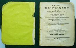 A Pocket Dictionary Of Proper Names 1823 J. Nossek London & Leipzig - 1800-1849