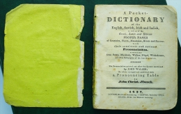 A Pocket Dictionary Of Proper Names 1823 J. Nossek London & Leipzig - Old Books