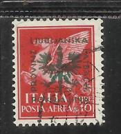 GERMAN LUBIANA 1944 TEDESCA POSTA AEREA AIR MAIL LIRE 10 USATO USED OBLITERE' - Occup. Tedesca: Lubiana
