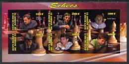 103818 - Djibouti 2013 Chess Masters Imperf Sheetlet Containing 6 Values Unmounted Mint - Yibuti (1977-...)