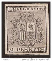 PRTGF9-L2161TAN.Spain. Espagne.Telegrafos.Escudo .ALFONSO  Xlll .PUERTO RICO ESPAÑOL.1875.(Ed 9) .  LU - 1875-1882 Reino: Alfonso XII