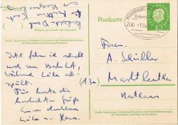 "(016) Postkarte Bahnpost ""REGENSBURG-HOF-MÜNCHEN"" 1959 - Usados"