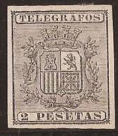 PRTGF9-L2161TESSC.Spain. Espagne.Telegrafos.Escudo .ALFONSO  Xlll .PUERTO RICO ESPAÑOL.1875.(Ed 9) .  LU - Sin Clasificación