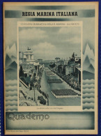Quaderno Notebook Cahier Regia Marina 10/06/1939 Sfilata Su Via Dell'Impero Anni 30/40 #L420 - Old Paper