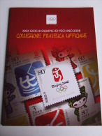 Lib189 Bolaffi Collezione Filatelica Giochi Olimpici Pechino Beijing 2008 Olympic Games Torcia Logo Mascotte Sport Cina - Francobolli
