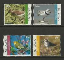 stk1003co St. Kitts 2010 Birds 4v