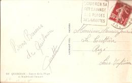 Daguin Quiberon Sur Carte-photo Bd Chenard - Marcophilie (Lettres)