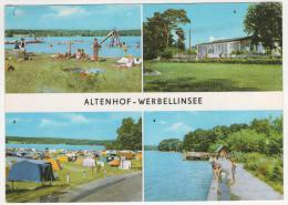 CPSM ALTENHOF - WERBELLINSEE, BADESTELLE SUSSER WINKEL, FDGB ERHOLUNGSHEIM STRANDPAVILLON, CAMPINGPLATZ, ALLEMAGNE - Allemagne