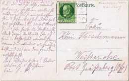 """(056) Ansichtskarte Bamberg Dom Bahnpost """"FRANKFURT(MAIN)-NÜRNBERG"""" 1915, Neustadt/Aisch - Bavière"""