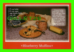 RECETTES - RECIPES - BLUEBERRY MUFFINS - - Recettes (cuisine)