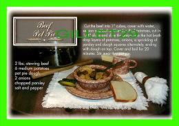 RECETTES - RECIPES - BEEF POT PIE - - Recettes (cuisine)