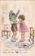 """¤¤  -   Illustrateur """" Germaine BOURET """"  -  C'que C'est Empoté Un Homme  -  Chat, Poisson Rouge    -  ¤¤ - Bouret, Germaine"""