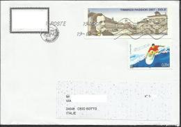 Lettera Dalla Francia A Osio Sotto (BG) Italia - 1999-2009 Vignettes Illustrées