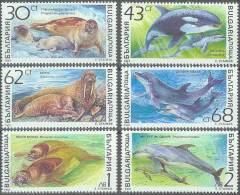 DELFINES - BULGARIA 1991 - Yvert #3424/29 - MNH ** - Delfines