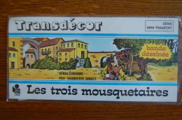 TRANSDECOR LES 3 MOUSQUETAIRES - DECORAMA DECALCOMANIES TRANSFERT LITO - Stickers