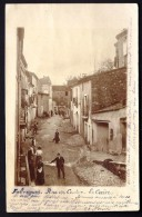 CPA-PHOTO- FRANCE- FABREGUES (34)-RUE DU CENTRE- LE CAÏRE EN 1900- ANIMATION- TAS DE GRAVIER POUR LA CHAUSSÉE-CANTONNIER - Francia