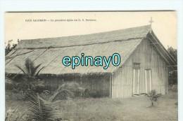 Bf - ILES SALOMON - La Premiére église Du R. P. Bertreux - Solomon Islands