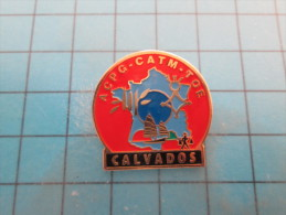 (pin713e) Pin´s Pins / Thème : MILITARIA /   ANCIENS COMBATTANTS ET PRISONNIERS DE GUERRE CALVADOS ACPG CATM TOE ALGERIE - Militaria
