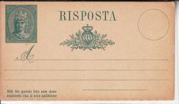 CARTOLINA POSTALE STORIA POSTALE RISPOSTA ORIGINALE100% - Postal Services