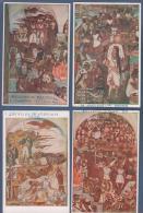 12 IMAGENES PALACIO NACIONAL DE MEXICO - FRESCO DIEGO RIVERA ? - 14.5 X 9.5 Cm - Cromos