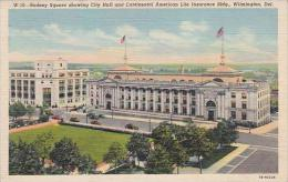 Delaware Wilmington Rodney Square Showing City Hall And Continental American Life Insurance Bldg