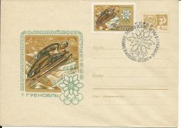OLI299 -OLIMPIADI GRENOBLE 1968 - INTERO POSTALE URSS CON ANNULLO SPECIALE - - Inverno1968: Grenoble