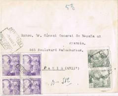 4026. Carta Certificada MADRID 1942. Exento De CENSURA - 1931-Aujourd'hui: II. République - ....Juan Carlos I