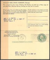 USA - HEIMATBELEG - CHICAGO - DOPPELKARTE - Briefe U. Dokumente