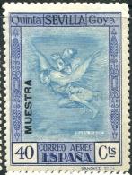 Ed 524M* Quinta De Goya Aéreo 40 Cts Nuevo MUESTRA En Negro. Tirada Para La UPU - Nuevos