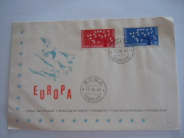 Italie Italia Brief Lettre Letter FDC 1962 Europa Colombes Yv 873-874 - 1946-.. Republiek