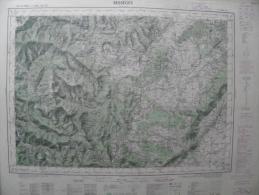 Carte Géographique - BESSEGES 1/50.000 Les Balmelles/Malons-et-Elze Labeaume/St Alban Chamborigaud St Sauveur-Cruzières - Cartes Topographiques