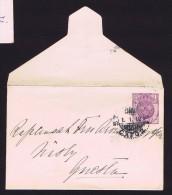 1912  Petite Enveloppe 4 øre Michel U17a, Wz 1X - Entiers Postaux