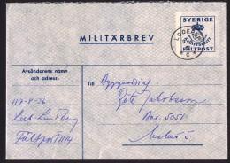 1961  Lettre De Militaire En Franchise  Avec Timbre Pour Réponse - Entiers Postaux