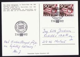 1972  Stockholmia '72  50 øre, Paire De Carnet - FDC