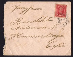 1894  Lettre De Svedala 10øre Oacar II - Lettres & Documents