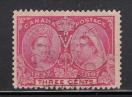 Canada Used Scott #53 3c Jubilee Cancel: SON CDS Coaticook QUE JY 15 97 - Oblitérés