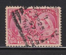 Canada Used Scott #53 3c Jubilee Cancel: Squared Circle St John NB SP 23 97 - 1851-1902 Regno Di Victoria