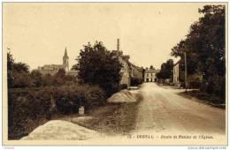 44-DERVAL-Route De Nantes Et L´Eglise- - Derval