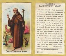 SANTINO IMAGE PIEUSE HOLY CARD SANCTUS ANTONIUS ABBAS S. ANTONIO ABATE ITALY (35) - Religion &  Esoterik
