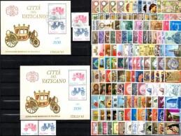 140 Marken Vatikan Plus Block 8 **/o 36€ Hl.Petrus Monument Capitol Rom Relief Art Christmas Bloc M/s Stamps Bf Vaticano - History