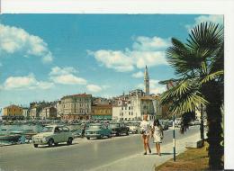 YUGOSLAVIA 1968 – POSTCARD  ROVINJ –PORT & WALK (NOTE OLD CARS) ADDR TO LUZERN / SWITZERLAND W 2 STS OF 0,10-0,65 (TITO - Yougoslavie