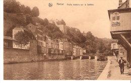 Namur- +/-1930-Vieilles Maisons Sur La Sambre- Péniche-Ecluse Au Pied De La Citadelle - Namur