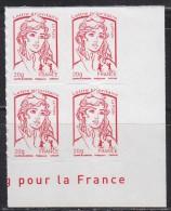 = Marianne Et La Jeunesse Autocollant X 4 Lettre Prioritaire -20g, Avec Coin Bas De Feuille N°851 - France