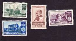 Turkey, Scott #1047-1050, Mint Never Hinged, 40th Interparliamentary Conf., Issued 1951 - 1921-... République