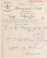 FACTURE BERNASCONI-SCETI àMOULINS (ALLIER) VINS1906 - France
